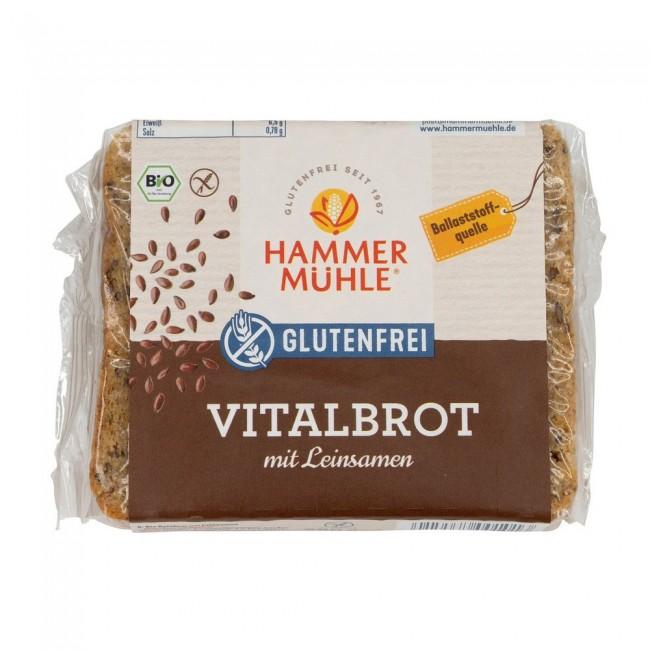 Hammermühle: Glutenfreies Vitalbrot mit Leinsamen, bio (250g)