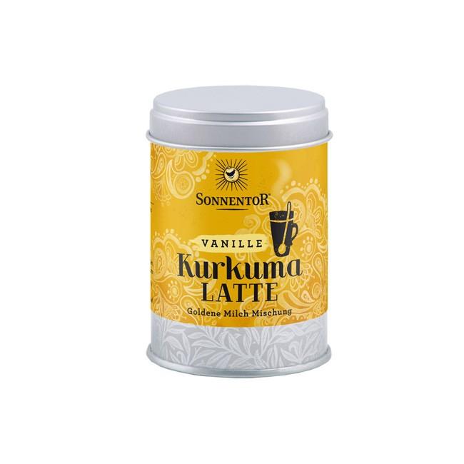 Bio Kurkuma-Latte Vanille in der Dose von Sonnentor (60g)