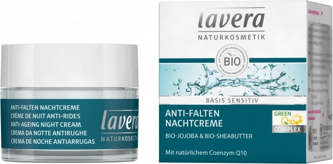 Lavera : Basis Sensitiv Anti-Falten Nachtcreme mit Coenzym Q10 (50ml)