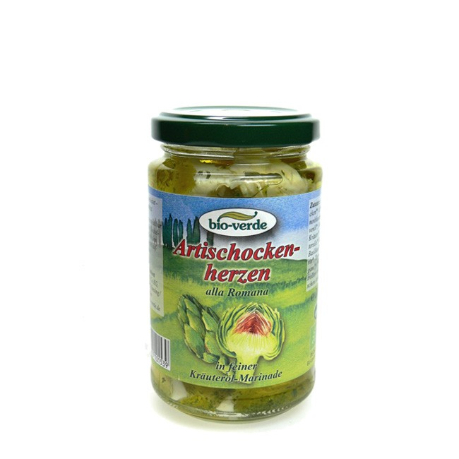 Bioverde-Artischockenherzen-alla-romana-olivenoe-kräutermarinadel-bio