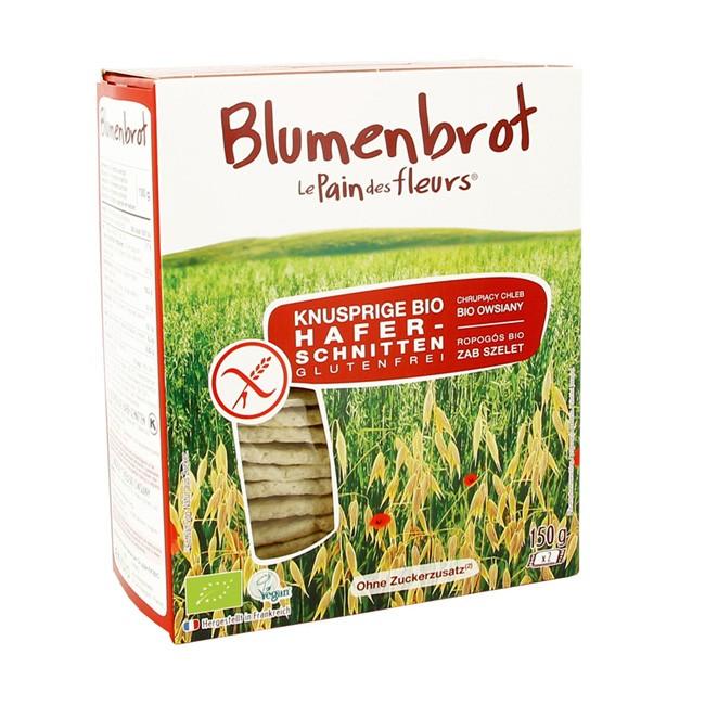 glutenfreies Hafer Knusperbrot von Blumenbrot (2 Packungen mit mind. je 10 Scheiben pro Karton)