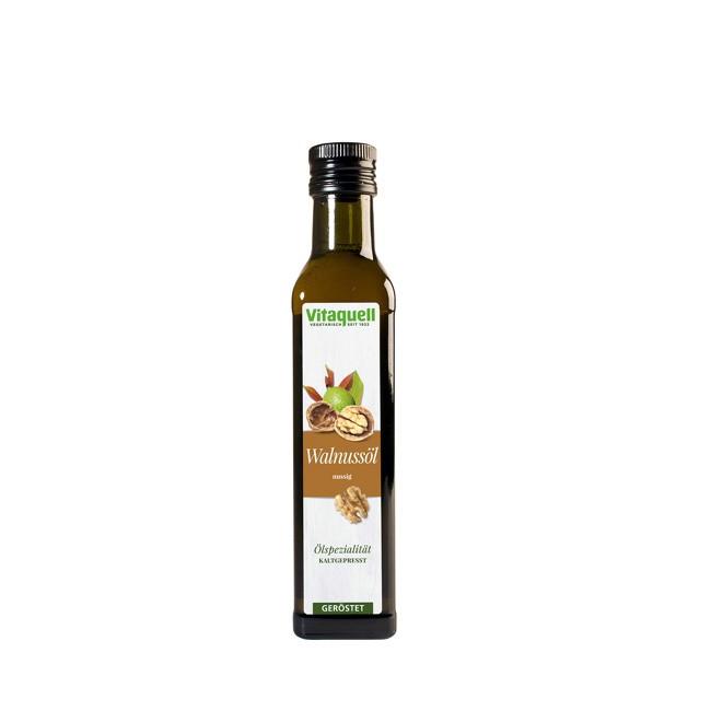Natives Kaltgepresstes Walnussöl von Vitaquell in Bio-Qualität 250ml