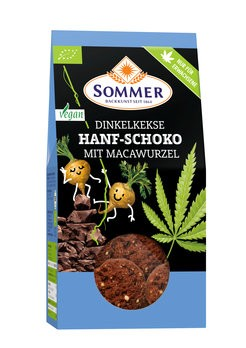 Sommer : Dinkelkekse Hanf-Schoko mit Macawurzel, bio (150g)