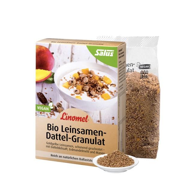 Flügge Linomel Leinsamen Dattel Granulat von SALUS - zur Ergänzung Ihres Frühstücks