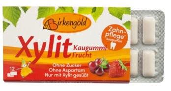 Birkengold Xylit Kaugummis Frucht 12 Stk