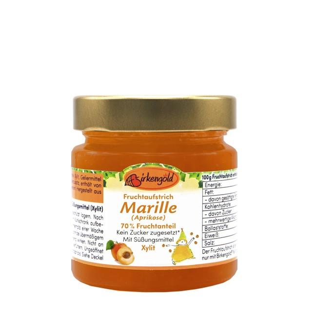 Birkengold Fruchtaufstrich Marille Aprikose 200g