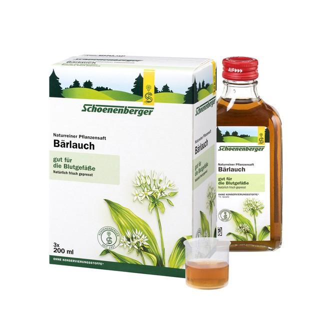 Naturreiner BIo Bärlauch Pflanzensaft mit wertvollen Flavonoiden und dem würzigen Aroma von Knoblauch von Schoenenberger 600ml
