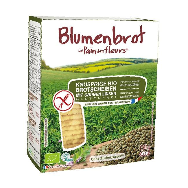 Knusperbrot aus Grünen Linsen Mehl und Reismehl - 150g Bio, Vegan und Glutenfrei