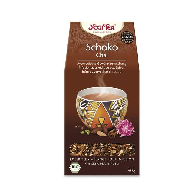 Koscher Öko Anbau Vegan Glutenfrei mit Kakaoschalen, Zimt, Kardamom, Ingwer, das ist der Tee Choco Schoko Chai von Yogi Tea