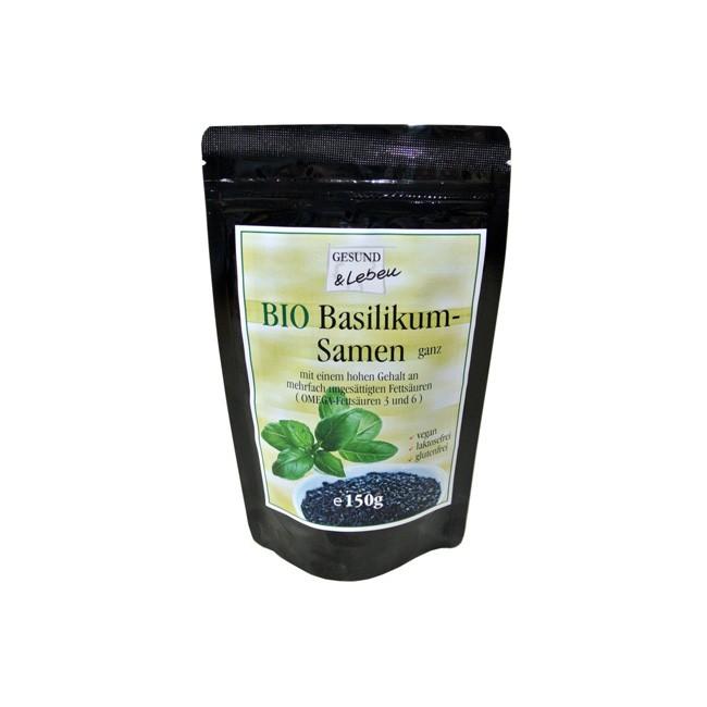 Gesund und Leben: Basilikumsamen, bio (150g)