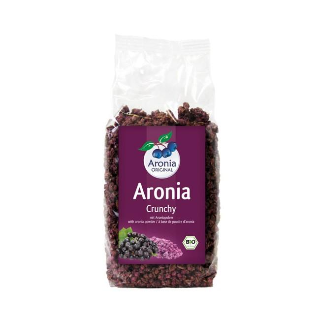 Bio Aronia Chrunchy mit Reissirup gesüßt (375g) - Aronia ORIGINAL