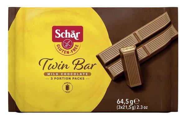 Dr.Schär Twin Bar Glutenfreier Waffel-Snack mit Milchschokolade 64,5g