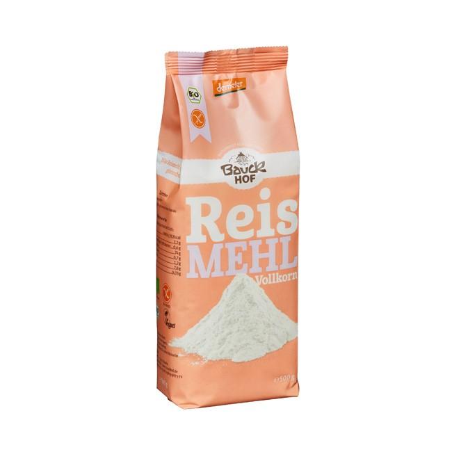 Bauckhof Vollkorn Reismehl. Demeter glutenfrei ohne gentechnik