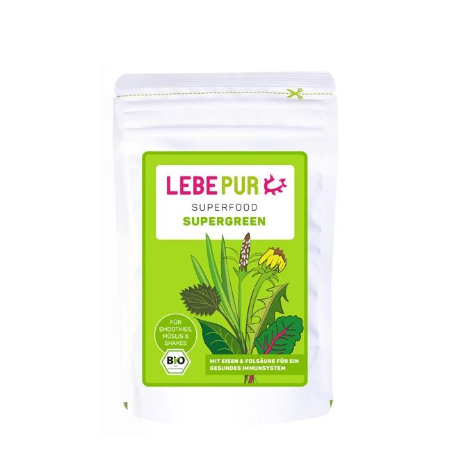 Lebepur Supergreen Pulver für grüne Smoothies (100g)
