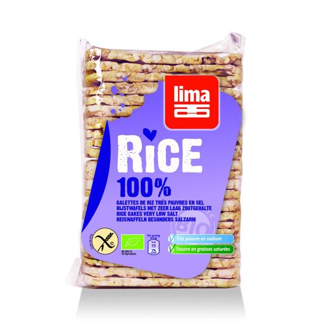Dünne Vollkorn Reiswaffeln von Lima - BIO und OHNE SALZ