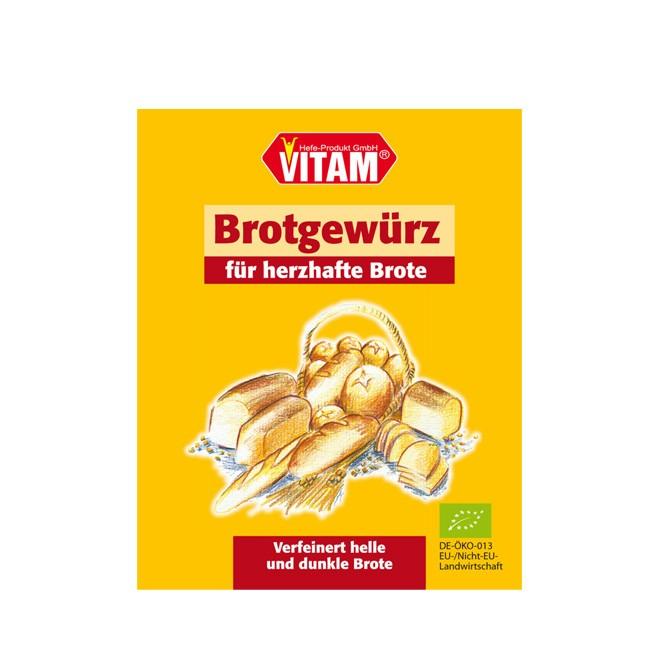 Vitams leckeres Brotgewürz mit  Fenchel, Koriander, Anis usw. biologisch 8g und für 1kg Brot ergiebig