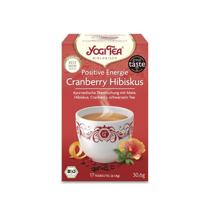 Positive Energie Tee von Yogi Tea aus biologischem Anbaumit Mate und Guarana schwarzem Tee und schwarzem Pfeffer 17 Beutel