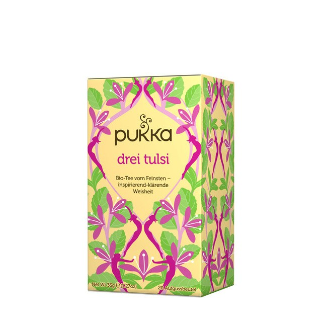 Biotee von Pukka - Drei Tulsi. 20 Beutel