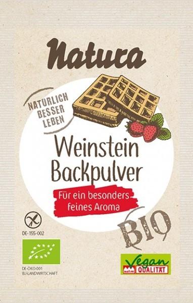 Natura : Weinstein Backpulver, glutenfrei (3x18g)