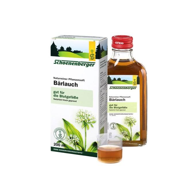 Naturreiner Bio Bärlauch Pflanzensaft mit wertvollen Flavonoiden von Schoenenberger