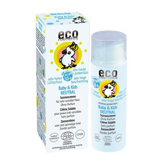 Sonnencreme mit LSF 50+ für Babys und Kinder - bio, vegan, ohne Parfum