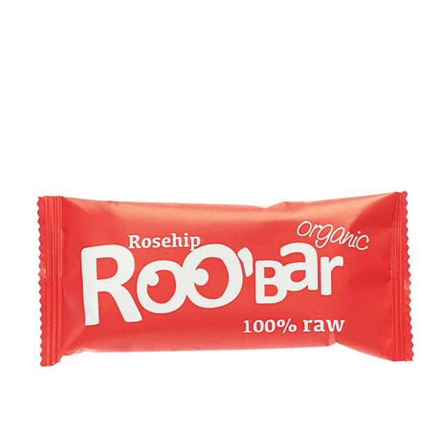 Basischer Hagebutten-Riegel in Rohkost Bio Qualiät von Roo'bar Rosehip50g