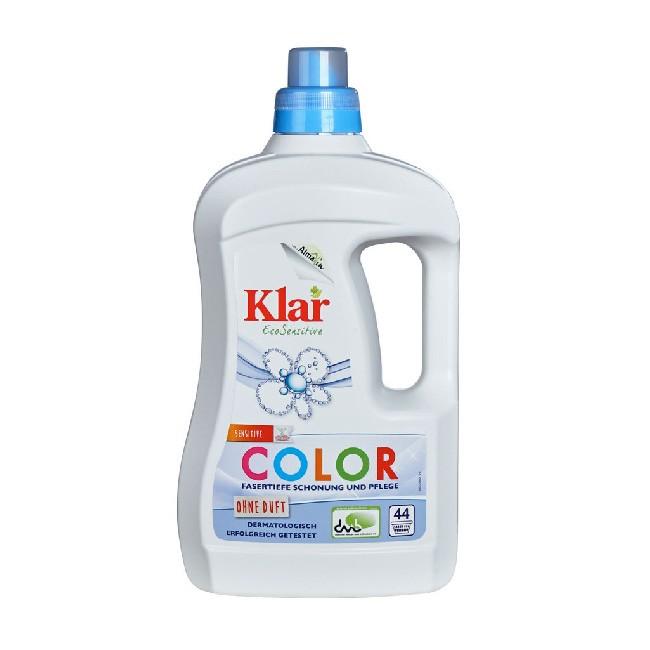 KLAR flüssiges Color Waschmittel ohne Duft (2 Liter Sparflasche)