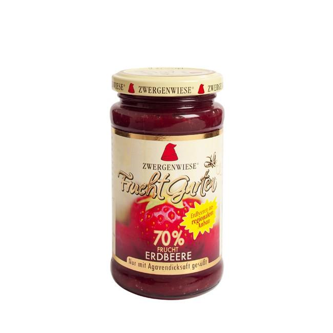 FruchtGarten Erdbeere von Zwergenwiese mit 70% Fruchtanteil im 225g Glas