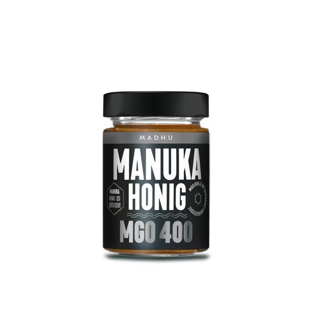 Madhu : Manuka-Honig MGO 400 Schwarz (250g)