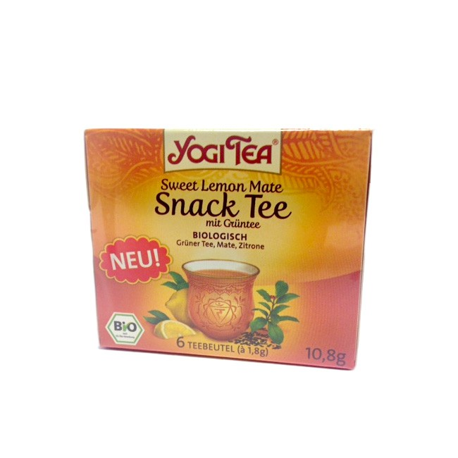 Snack Tee mit Zitrone und Mate von Yogi Tea