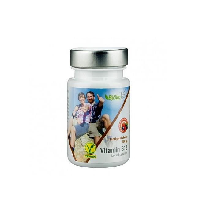 B12 Lutschtabletten mit Methylcobalamin von Bjökovit - 60 Stück in der Dose, vegan und glutenfrei