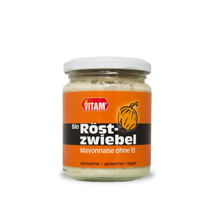 Röstzweibel Mayo-nnaise mit Senf verfeinert laktosefrei ohne Ei von Vitam 225 ml