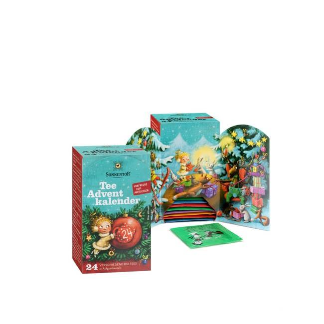 Sonnentor Bio Tee-Adventskalender 2018 - 24 verschiedene Sorten Tee für den Advent