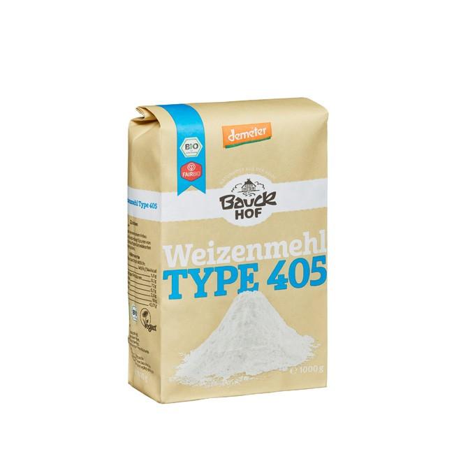 Weizenmehl hell von Bauckhof Typ 405 Demeter ohne synthetisch Farb- oder Konservierungsstoffe, zum Backen und Kochen