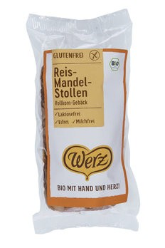 Werz : Glutenfreier Reis-Mandelstollen, bio (250g)