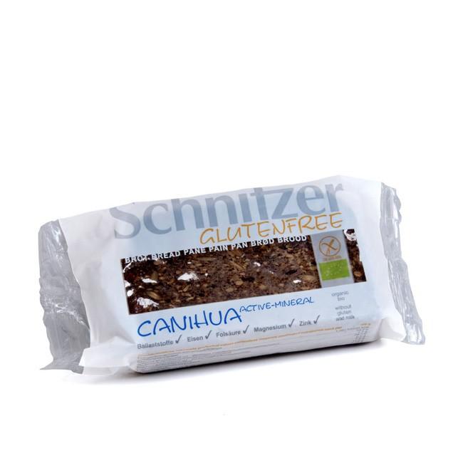 Schnitzer Canihua Active Mineral glutenfreies Brot eig verfeinert mit Canihua Körnern 250g bio