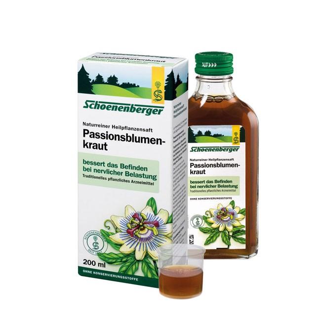Schoenenberger Naturreiner Heilpflanzensaft Passionsblumenkraut bio 200ml