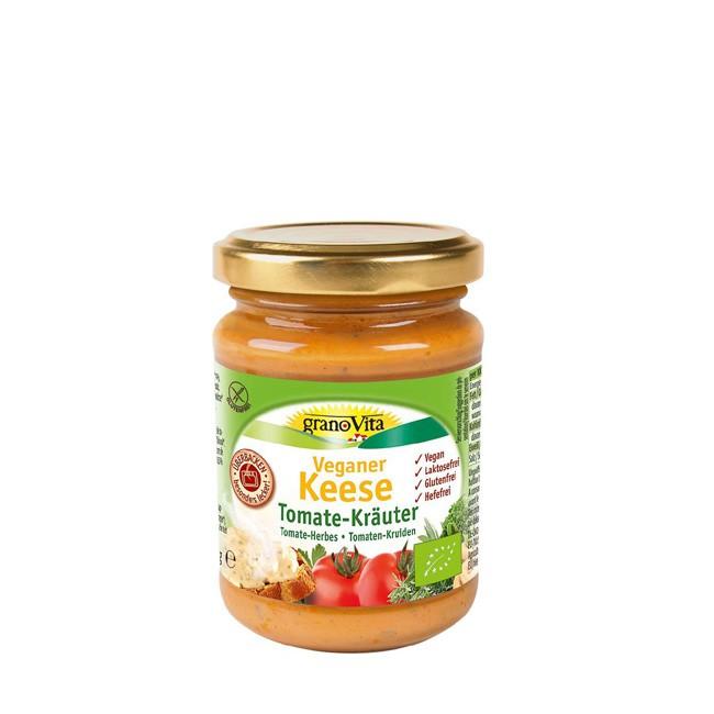 GranoVita Keese Tomate-Kräuter 170g veganer laktosefreier Käse