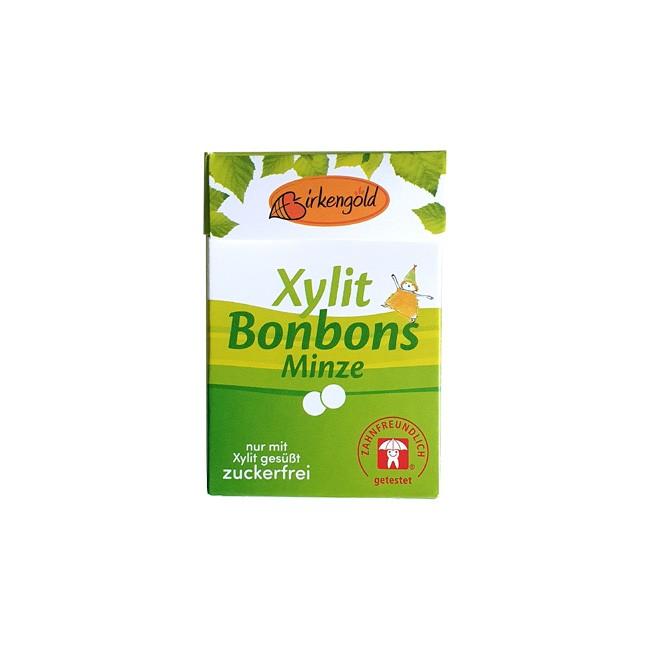 Birkengold Xylit Bonbons Minze aspartamfrei