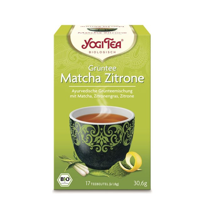 Yogi Tea Grüntee Matcha Zitrone, bio (17 Beutel)