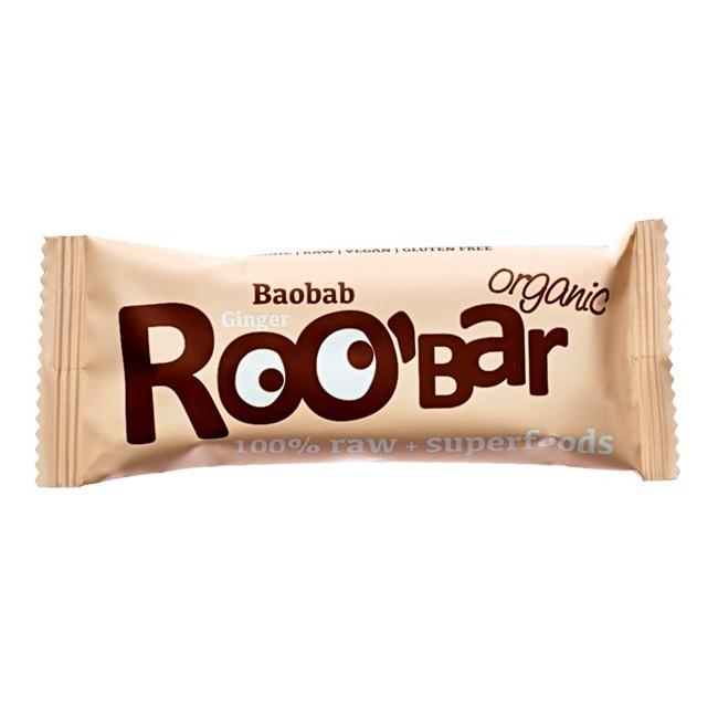 Rohkostriegel Baobab & Ingwer (50g) von Roo'bar - Bio, vegan & glutenfrei