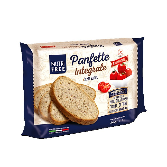 Panfette integrale - NUTRIFREE glutenfreies Vollkornbrot geschnitten