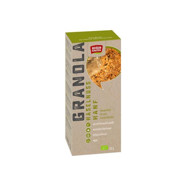 Rosengarten: Haselnuss Hanf Bio Granola 350g