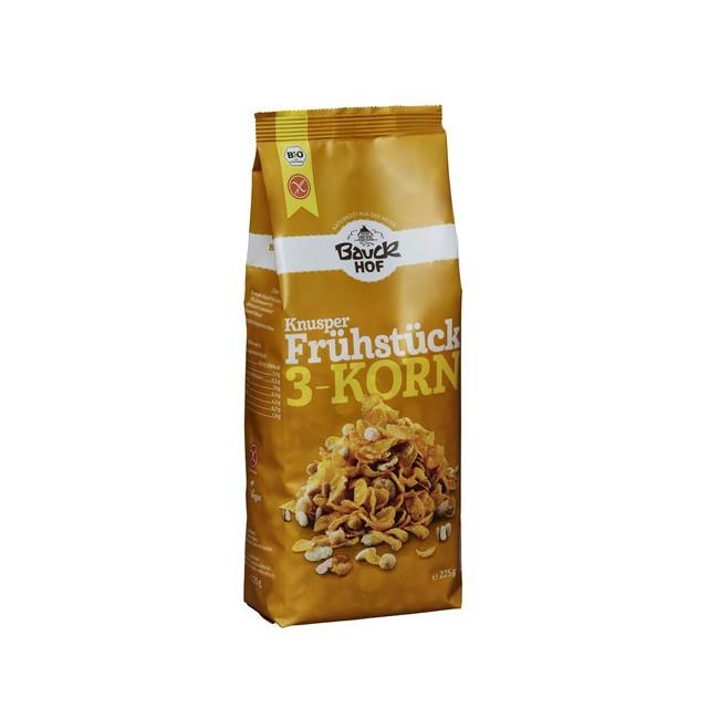 Glutenfreies 3-Korn Knusper Frühstück - Bio Müsli von Bauckhof