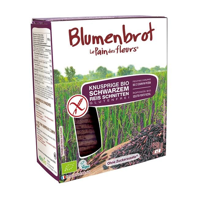 Bio Knusperbrot aus schwarzem Reis von Blumenbrot (150g) vegan und glutenfrei
