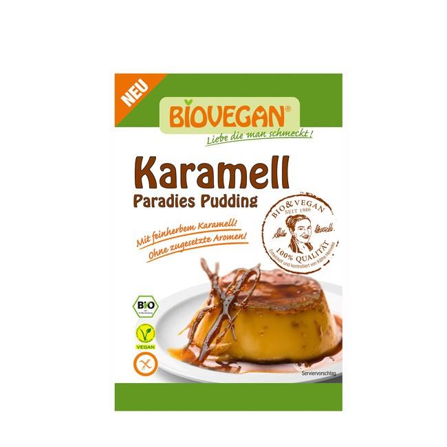 Biovegan Paradies Pudding mit fein-herbem Karamell bio 43g
