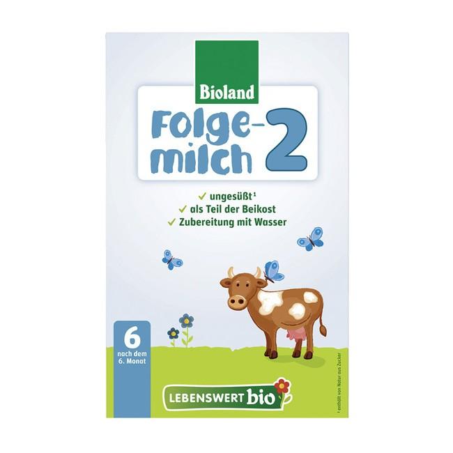 Bio Folgemilch 2 (500g) von Lebenswert in Bioland Qualität