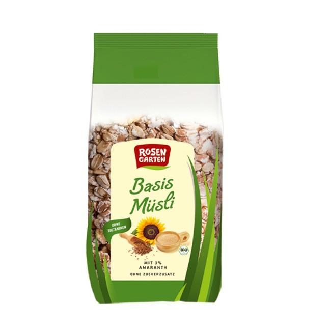 Rosengarten Basismüsli mit Amaranth und Vollkornflocken, bio (2kg)