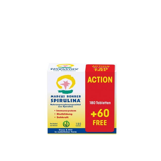 Marcus Rohrer : Spirulina Tabletten (180 Tbl. +60 Tbl. extra)