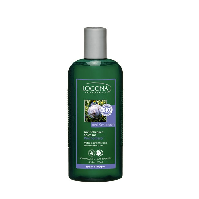 logona-antischuppen-shampoo-250ml mit innovativem pflanzlichem Wirkstoffkomplex mit Bio Wacholderöl Bio Kosmetik Zertifiziert